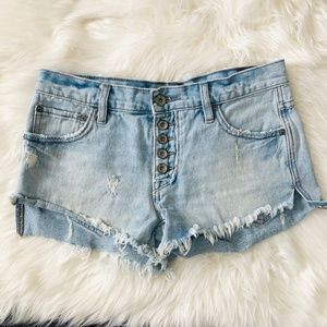 "Free People Shorts - Free People | Cutoff Button Fly Denim Shorts ""G"""